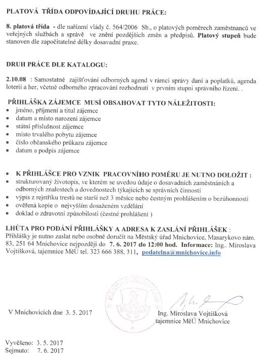 asopis pro obyvatele msta Mnichovice a okol - Msto